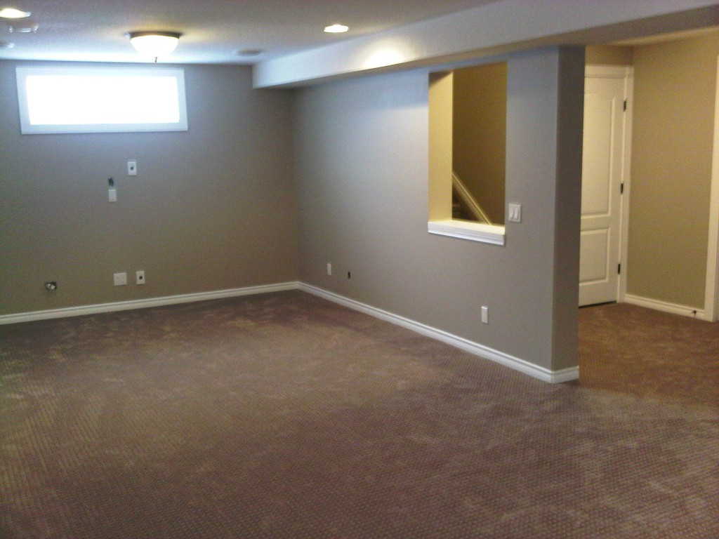 newly renovated basement
